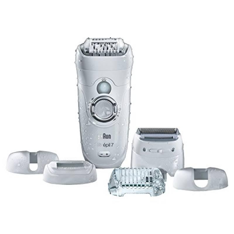 Braun Silk-Épil 7 7-561 Wet&Dry Epilatore Elettrico senza Fili con 8 Accessori